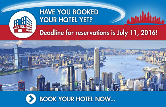 Contact our official housing agent, International Conference Consultants Ltd. (ICC). Maggie Wong will be happy to assist you at tts2016-hotel@icc.com.hk